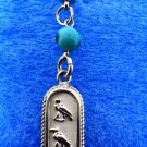 PUT YOUR NAME in hieroglyphic,Silver Personalized Cartouche Key Chain,Metal Ring