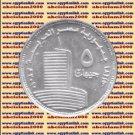 """2010 Egypt Egipto Египет Ägypten Silver Coins """" The Egyptian Television """", 5 P"""