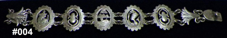 Hall marked Egyptian Pharaoh Silver Bracelet,Cleopatra ,Nefertiti, Scarab,Lotus