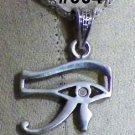"""Hall marked Egyptian Pharaonic Silver Pendant """"UDJAT'S EYE ,Scarab, Ankh, Isis"""""""