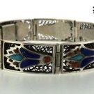 Hall marked Egypt Ägypten Pharaoh Silver Bracelet,Lotus and Lapis ,Turquoise