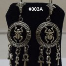 Hall marked Egypt ,Pharaoh,Authentic Silver Earrings,Scarab,Eye of Horus,Variety
