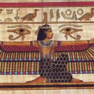 """Egyptian, Pharaonic, Authentic Papyrus Paint size 30x80 cm 12""""x32"""", Variation"""