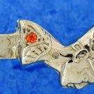 Hall marked Egyptian Pharaoh Silver Bracelet, Nefertiti with Citrine gems