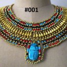 Egyptian Queen Cleopatra style Pharaoh's Necklace Collar Handmade Fast shipping