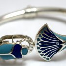 Hallmark Egypt Ägypten Pharaoh Silver Bracelet,Lotus Flower and Scarab