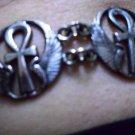 Hallmark Egyptian Pharaoh Silver Cuff Bracelet, Nefertiti, Ankh key of life