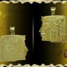 Egyptian HallMark 18 Karat Gold Fascinating pendant  Pharao's Queen Hatshepsut