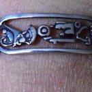 Hallmark Egyptian Pharaoh Silver Cuff Bracelet, and Cartouch