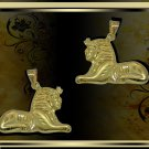 Charming Hallmark 18 K. Gold pendant ancient Egypt Most famous monuments  Sphinx
