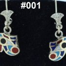 Hallmark Egyptian, Pharaonic, Authentic Silver Earrings with Gems 800,variety