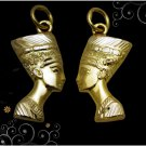 Egyptian HallMark 18 K Gold pendant charm ancient Egypt Pharao's Queen Nefertiti