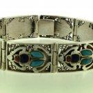 Hallmark Egypt Ägypten Pharaoh Silver Bracelet,Scarab and Lapis ,Turquoise