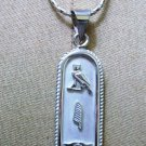 PUT YOUR hieroglyphic NAME On Fascinating Sterling Silver Egyptian CARTOUCH