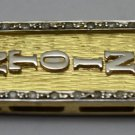 CUSTOMIZE Hieroglyphic  Name on Luxurious 18 Karat Gold .5 Ct. Diamond Cartouche