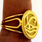 CUSTOMIZE Your Own Eye of Horus Fascinating 18 Karat Gold ethinic Egyptian Ring