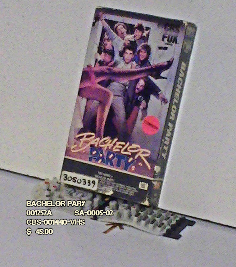 VHS - BACHELOR PARTY