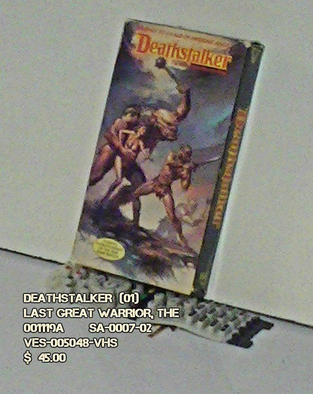 VHS - DEATHSTALKER  (01)  LAST GREAT WARRIOR, THE