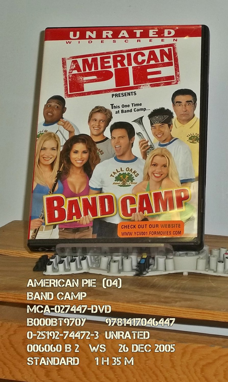 DVD - AMERICAN PIE  (04)  BAND CAMP