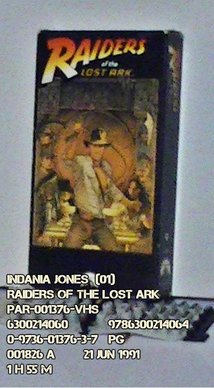 VHS - INDIANA JONES - RAIDERS OF THE LOST ARK