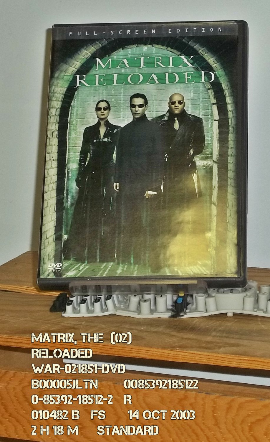 DVD - MATRIX, THE  (02)  RELOADED