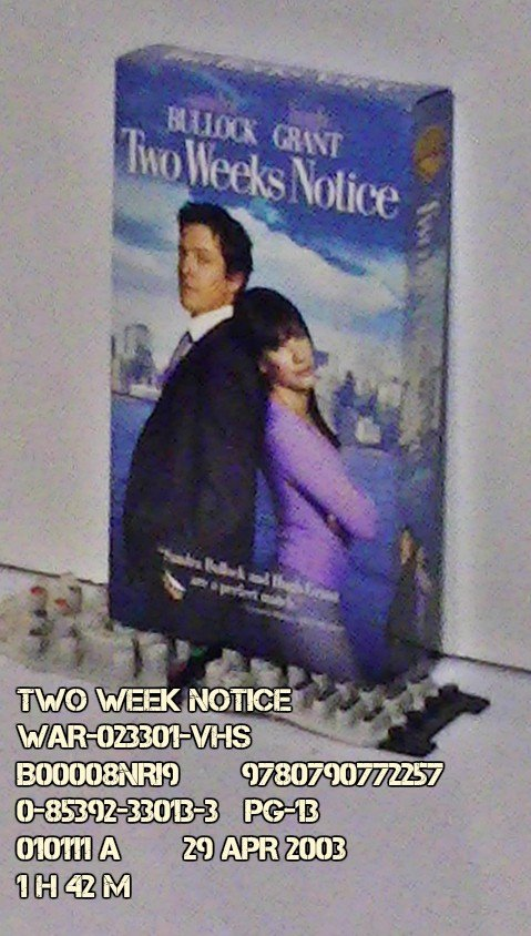 VHS - TWO WEEKS NOTICE
