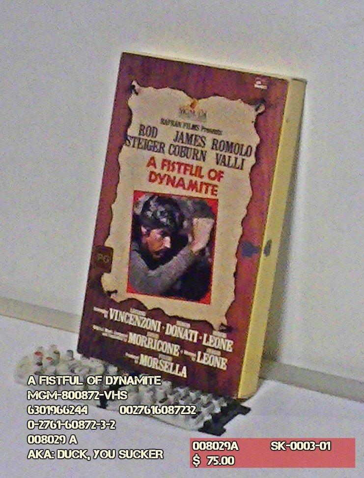 VHS - A FISTFUL OF DYNAMITE