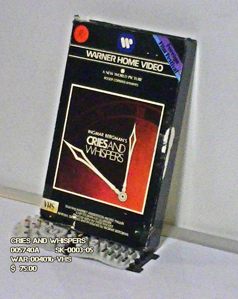 VHS - CRIES AND WHISPERS
