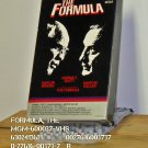 VHS - FORMULA, THE