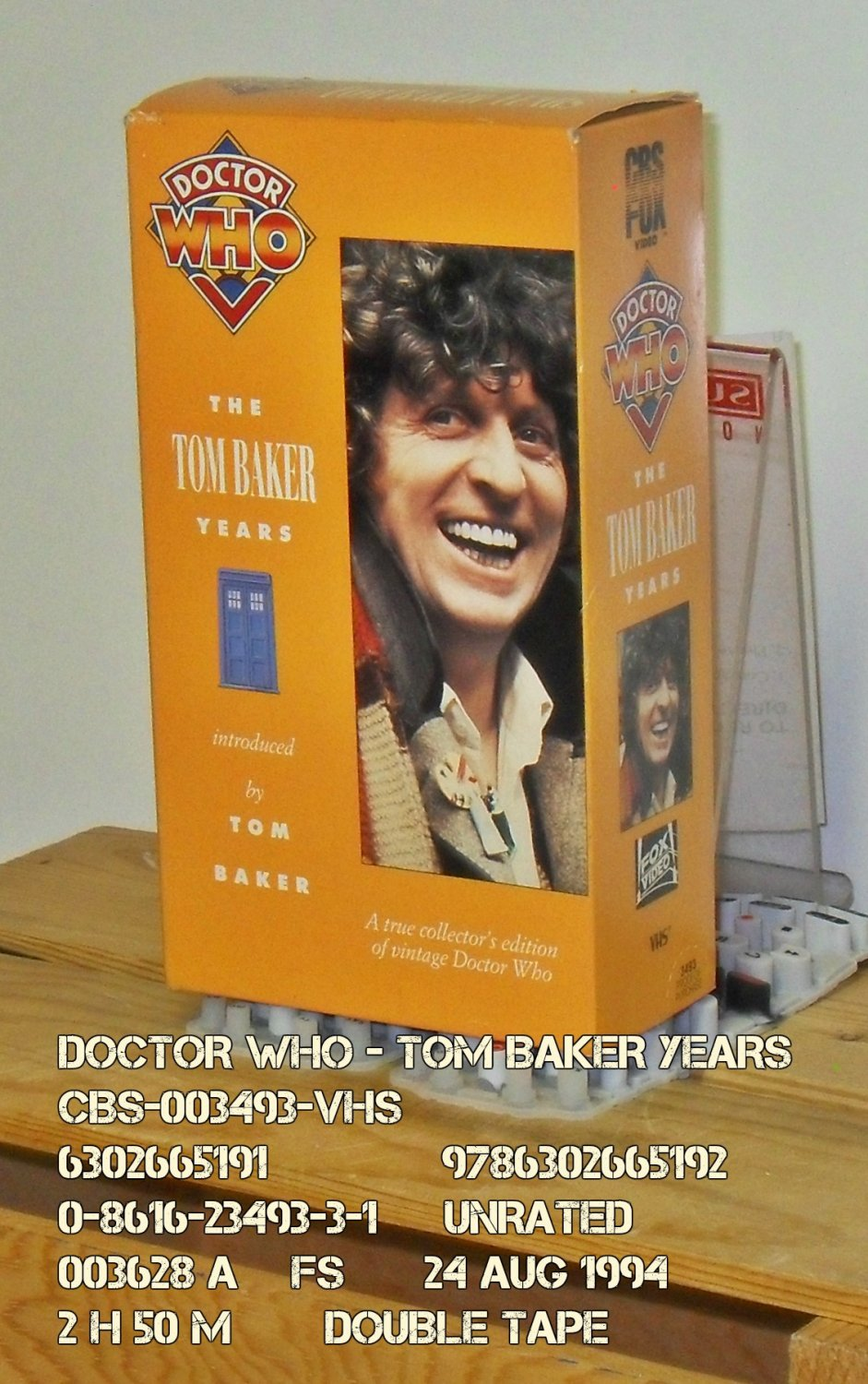 VHS - DOCTOR WHO - TOM BAKER YEARS