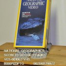 VHS - NAT GEO - SECRETS OF THE TITANIC