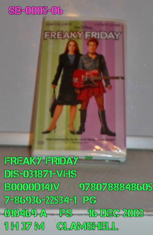 VHS - FREAKY FRIDAY  **