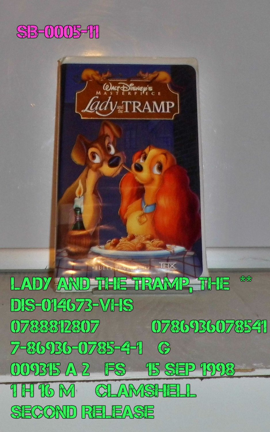VHS - LADY & THE TRAMP, THE  **