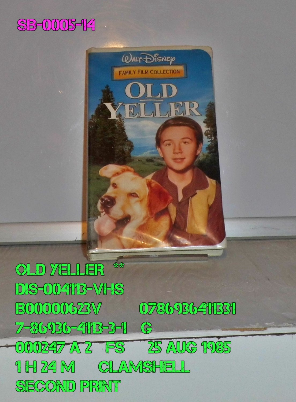 VHS - OLD YELLER  **