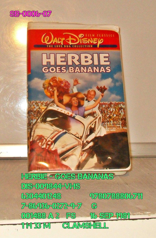 VHS - HERBIE GOES BANANAS