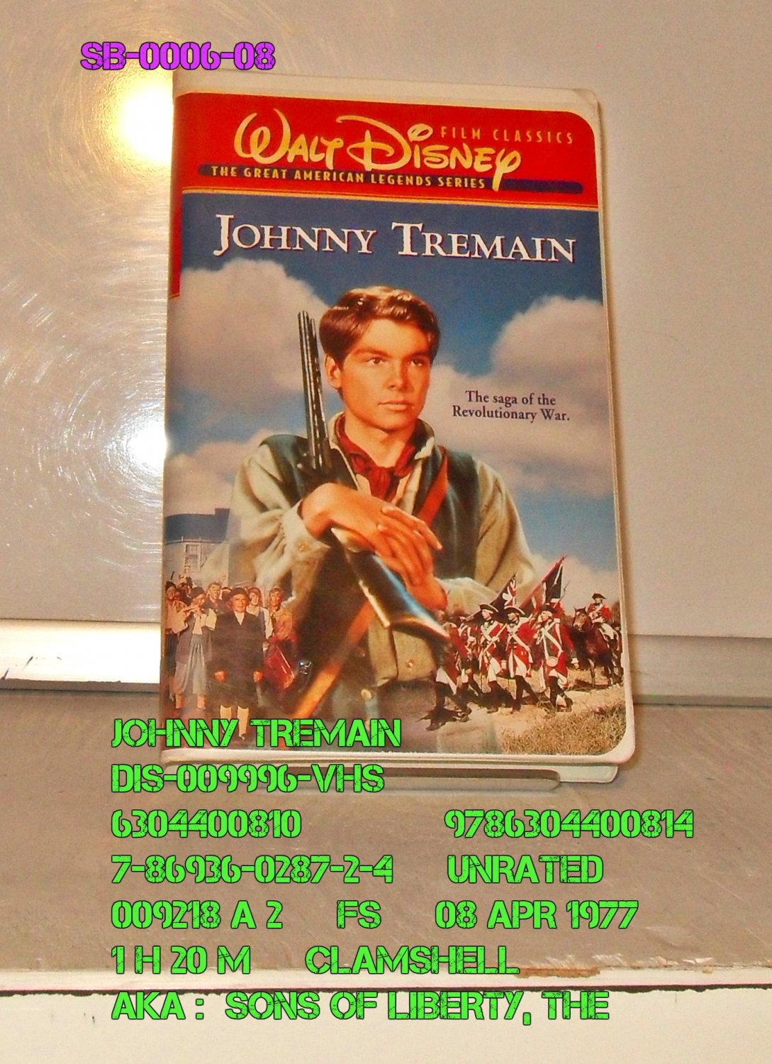 VHS - JOHNNY TREMAIN & THE SONS OF LIBERTY