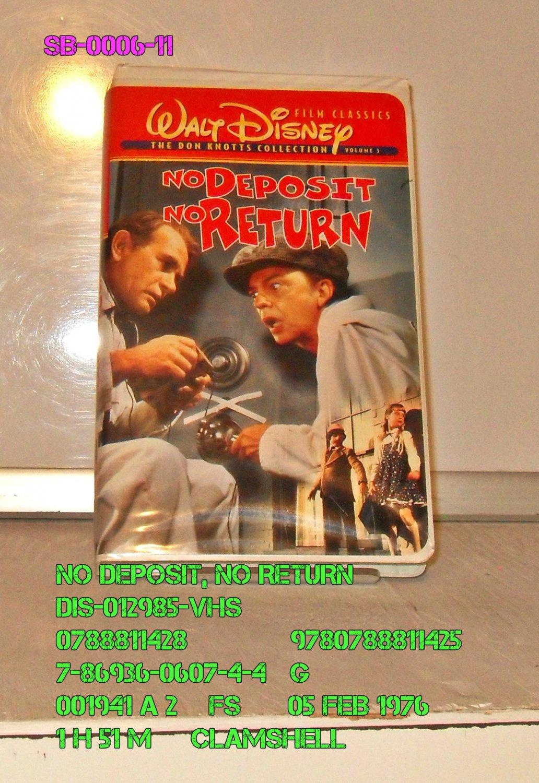VHS - NO DEPOSIT, NO RETURN