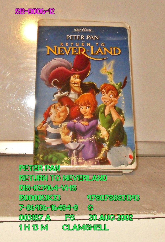 VHS - PETER PAN - RETURN TO NEVERLAND