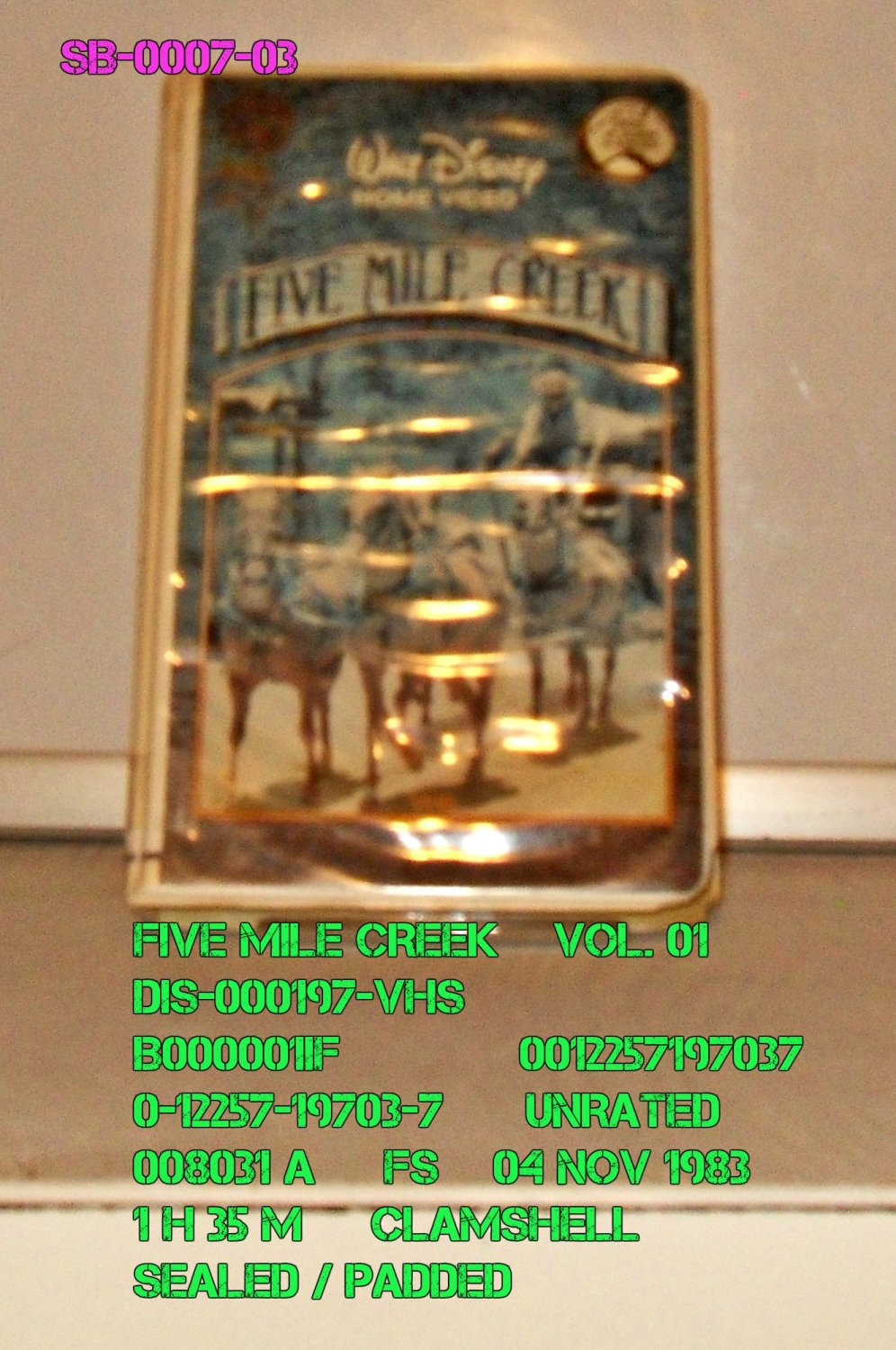 VHS - FIVE MILE CREEK  VOL. 01