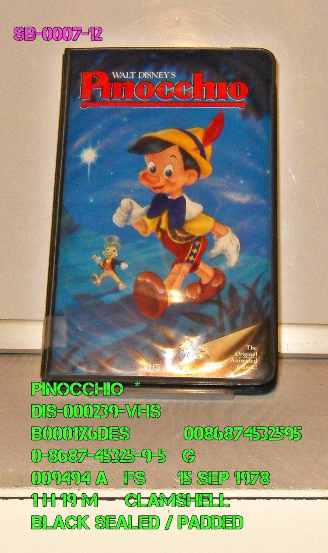 VHS - PINOCCHIO  *