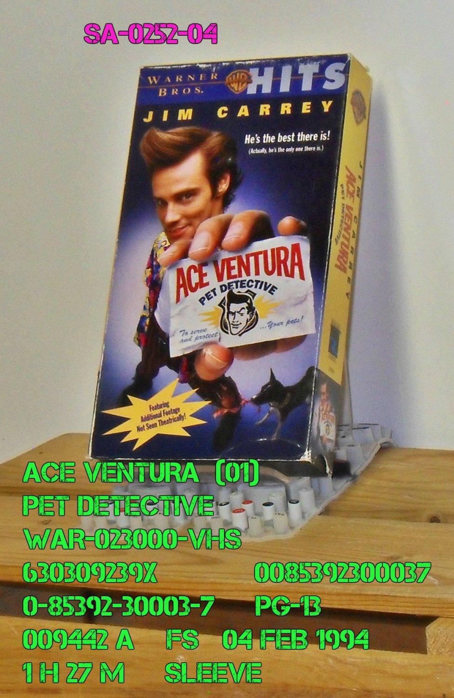 VHS - ACE VENTURA    (01)  PET DETECTIVE