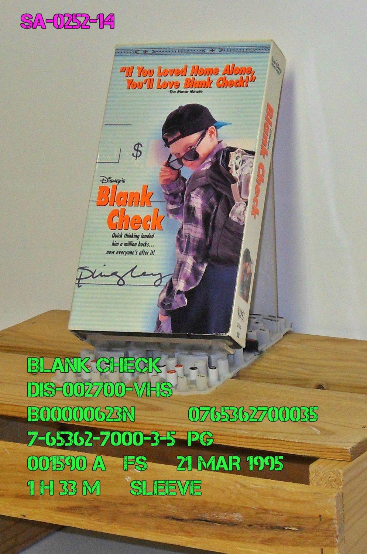 VHS - BLANK CHECK