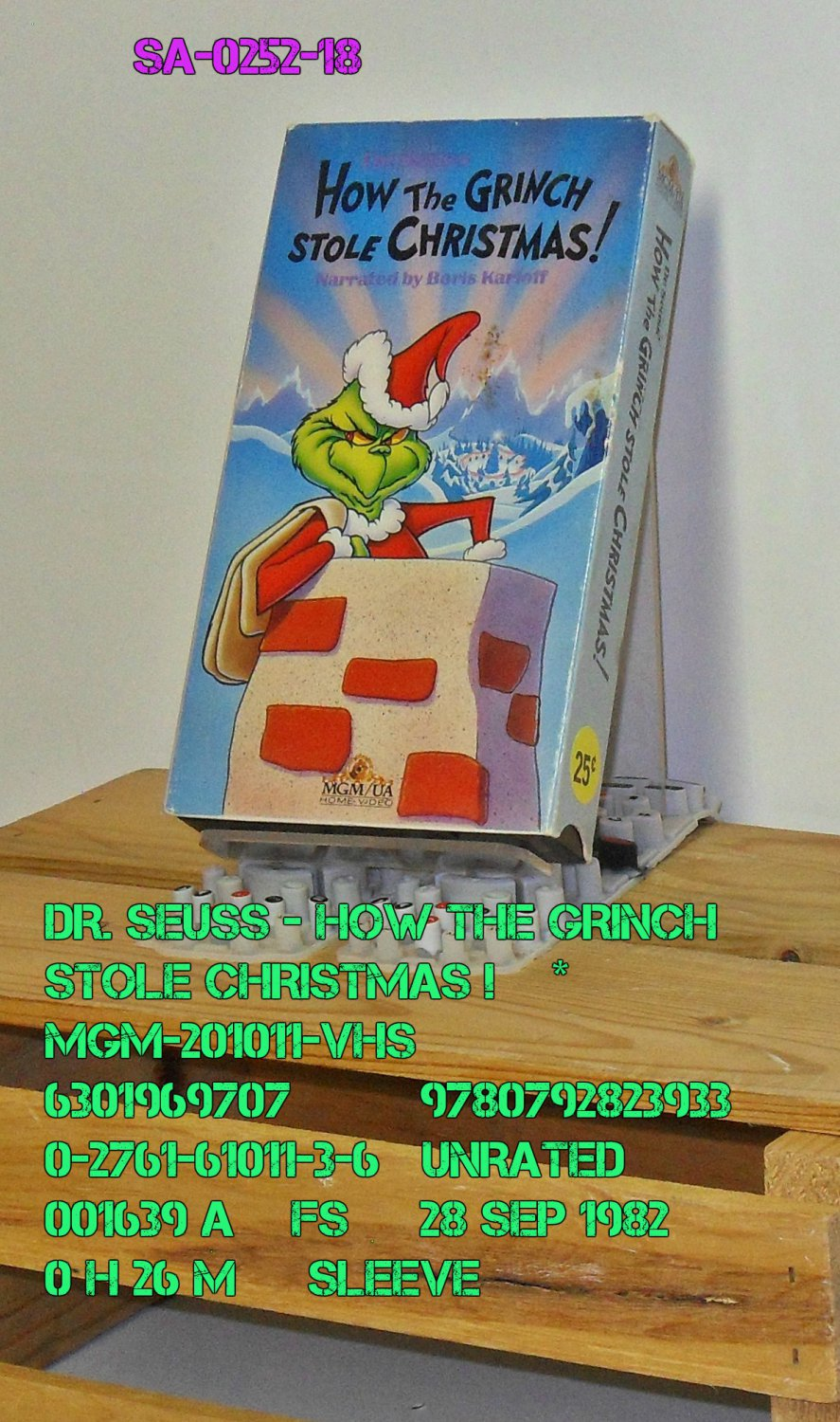 VHS - DR. SEUSS - HOW THE GRINCH STOLE CHRISTMAS  *