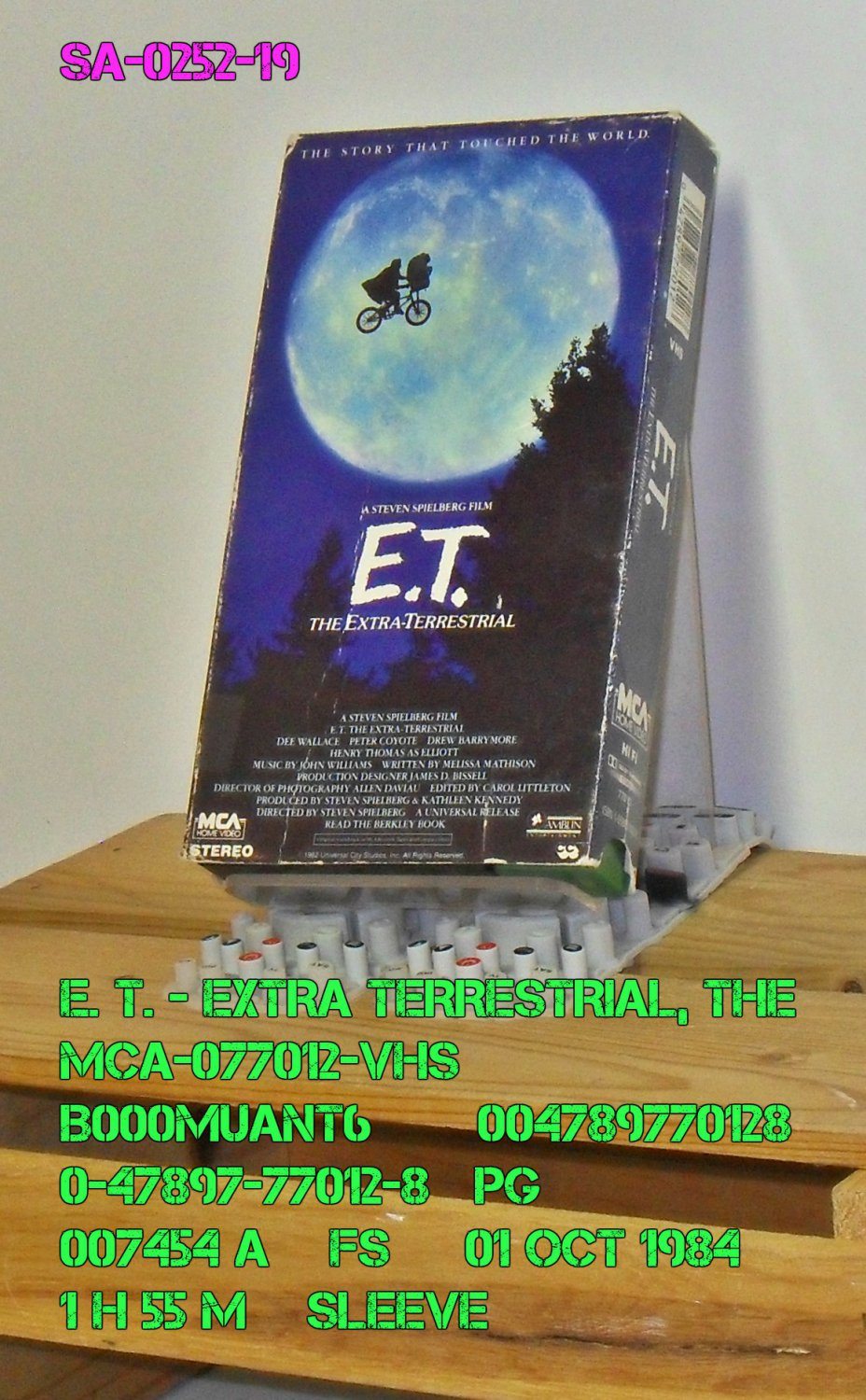 VHS - E. T. - EXTRA-TERRESTRIAL, THE