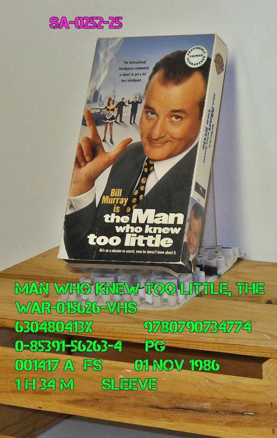 VHS - MAN WHO KNEW TOO LITTLE, THE
