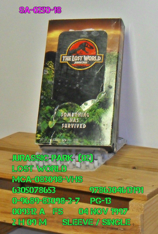 VHS - JURASSIC PARK  (02)  LOST WORLD  ( single )