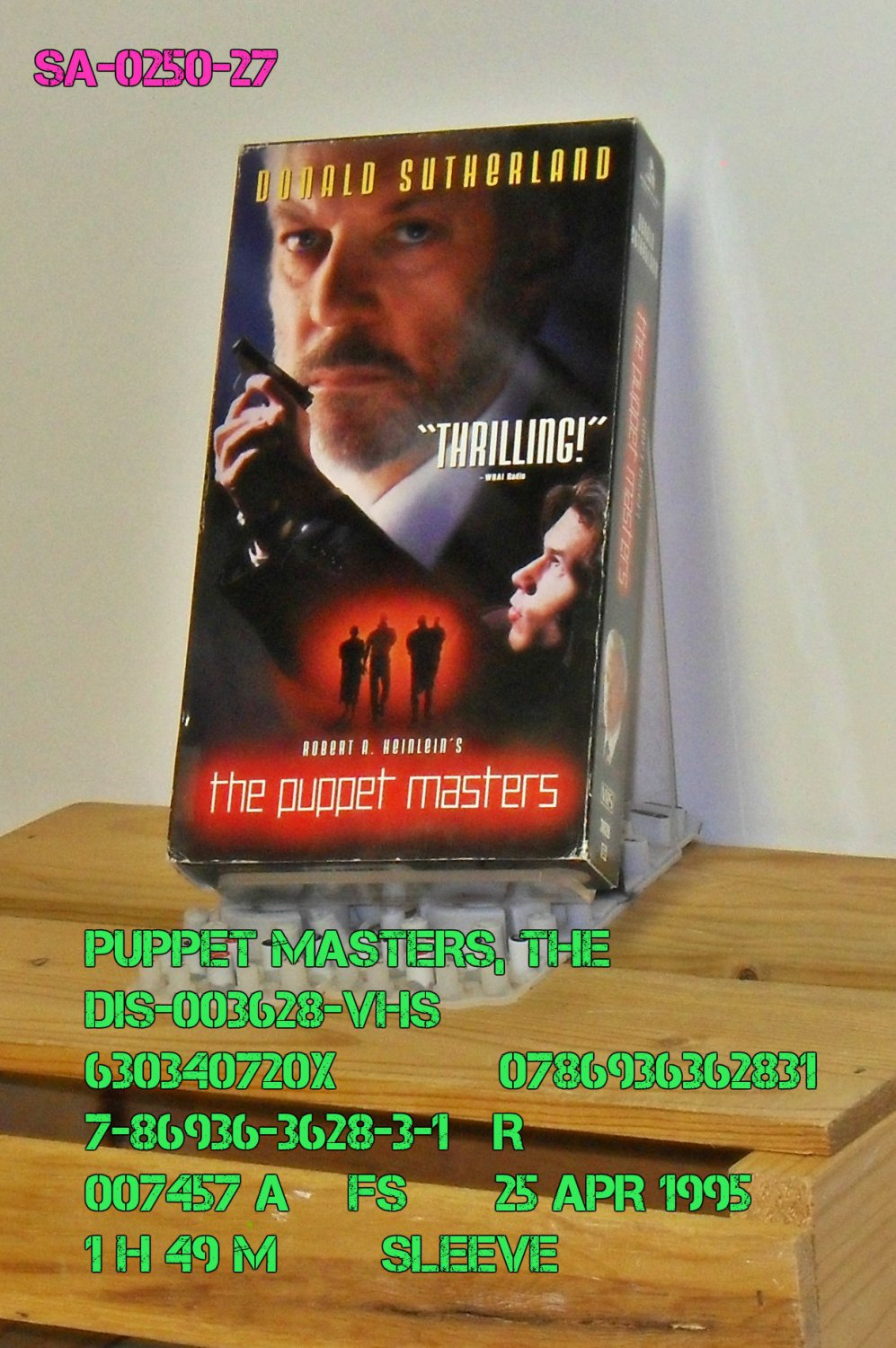 VHS - PUPPET MASTERS, THE