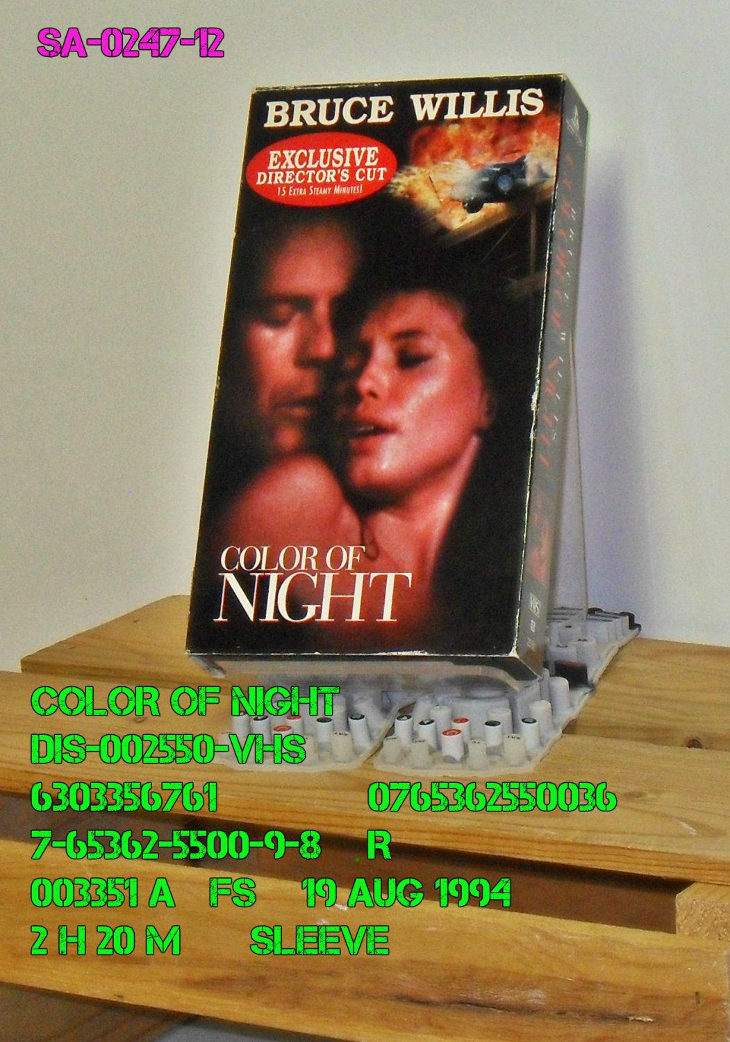 VHS - COLOR OF NIGHT
