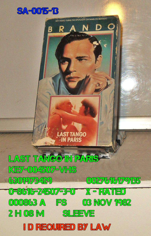 VHS - LAST TANGO IN PARIS