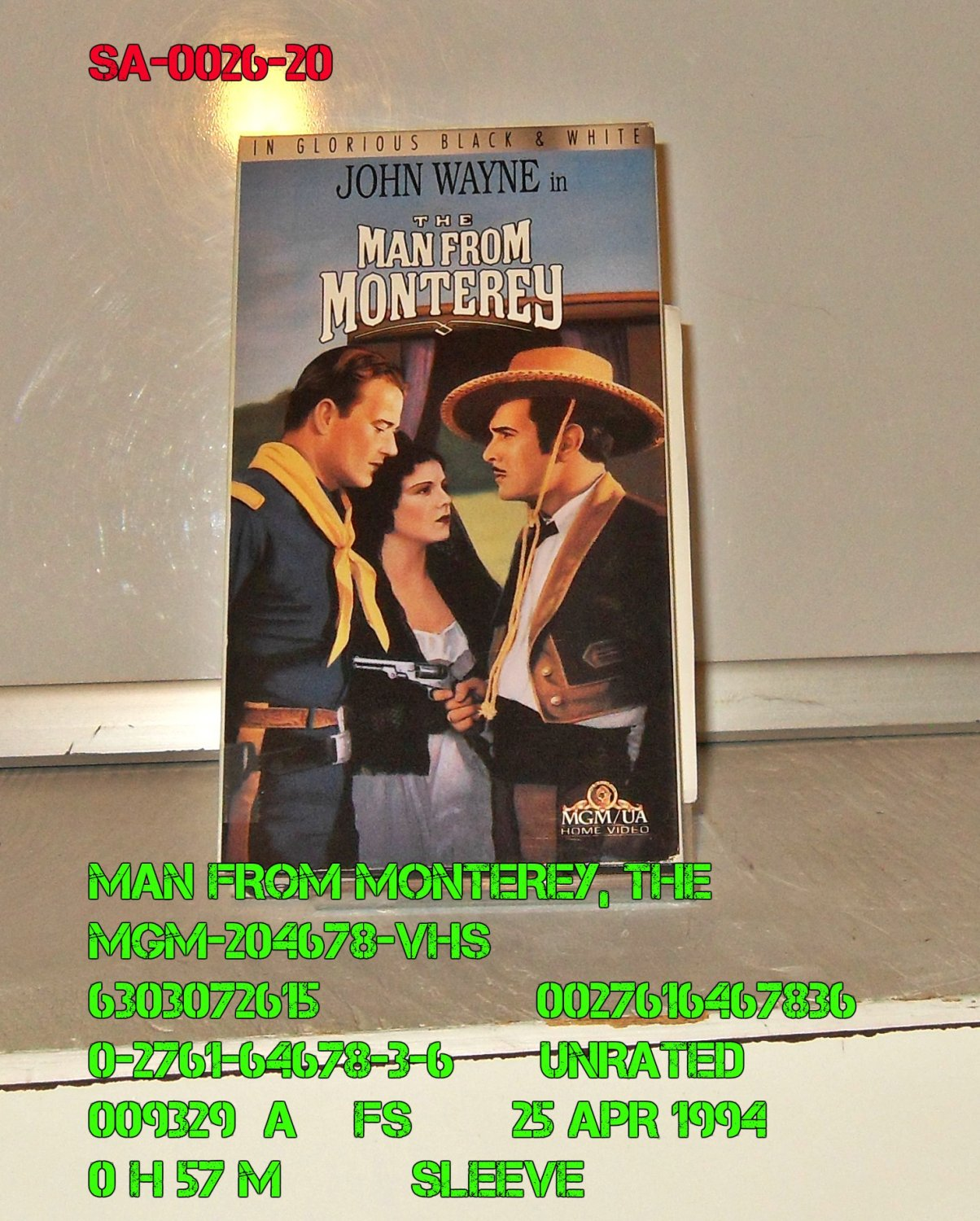 VHS - MAN FROM MONTEREY, THE
